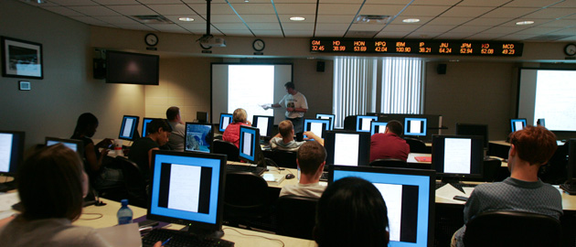Kraft Trading Room classroom - bachelor's degree in business