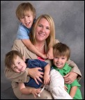 photo of Heather Paquette and her 3 children