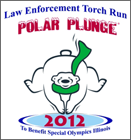 graphic reads Law Enforcement Torch Run Polar Plunge 2012 to benefit Special Olympics Illinois